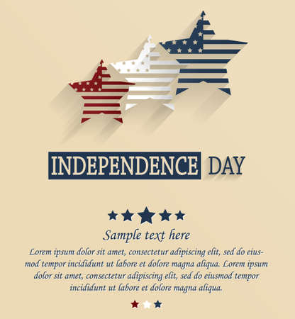 patriotic: Independence Day card with space for your text. 4th Of July. Red, white and blue stars.