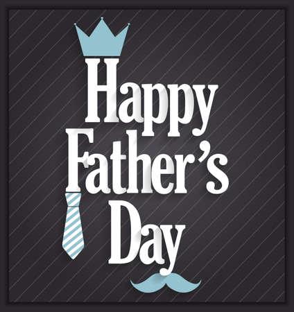 king s: Fathers Day poster on black background. Vector illustration. Illustration