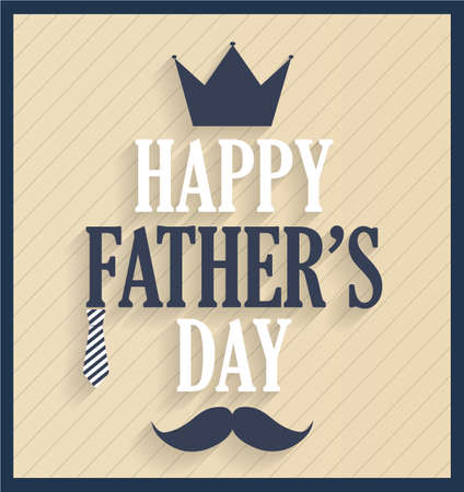 king s: Fathers day retro card. Illustration