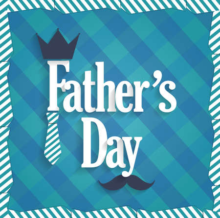 king s: Fathers Day poster on black chalkboard. Handwritten text. Vector illustration.