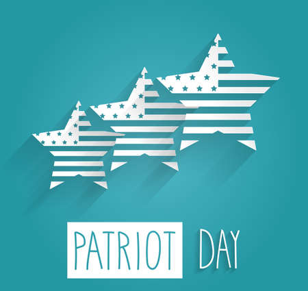 world trade center: Patriot Day poster. Blue background with handwritten text. Vector illustration. Illustration