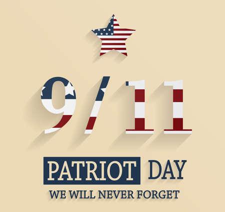 patriot: 911 Patriot Day poster. Vector illustration.