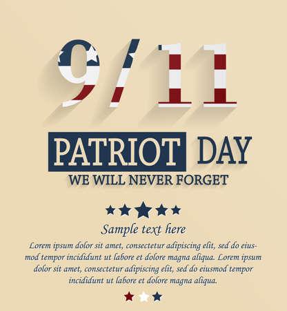 Patriot day card. 911. Vector illustration.