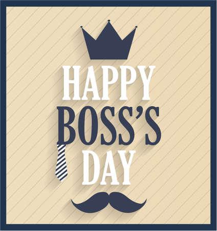 king s: Boss day retro card. Vector illustration. Illustration