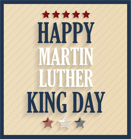 jr: Martin Luther King day retro poster. Vector illustration.