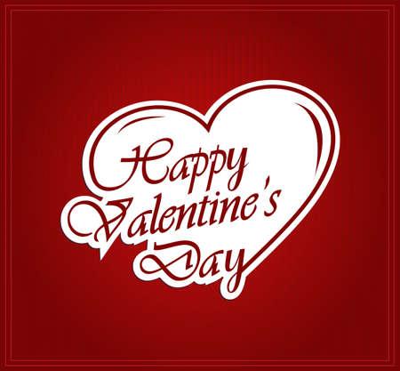 saint valentine s day: Valentines paper poster. Vector illustration.