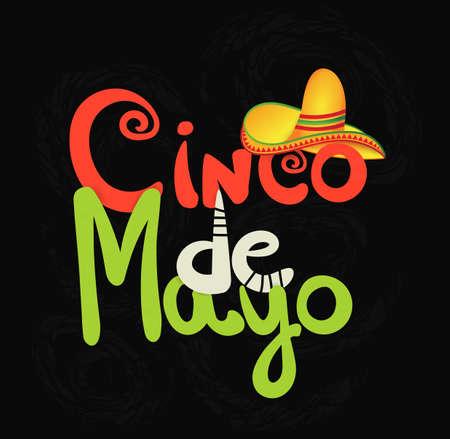 Cinco de Mayo template design Illustration