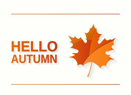 Hello Autumn banner. Vector illustration.