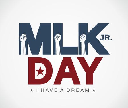 Mlk Day poster. Martin Luther King Jr. day. I have a dream. Vector illustration. Illustration
