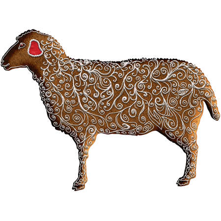 Chinese Zodiac Gingerbread Sheep - Ranking the eighth position of all the animals in Chinese zodiac, Sheep also Goat or Ram represents solidarity, harmony and calmness. Our is on Christmas gingerbread