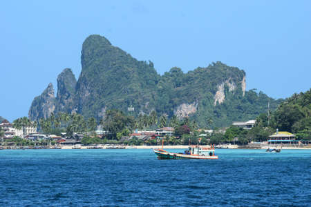 phi phi: Phi Phi islands are among the most popular destinations in Thailand. This picture illustrates the beauty of the islands.