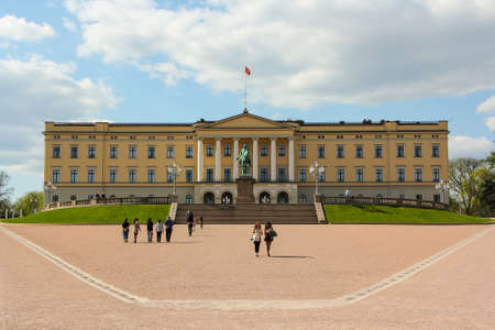 state owned: The Royal palace in Oslo, Norway.