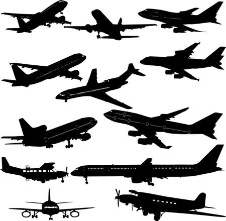 airplane collection  - vector Vector