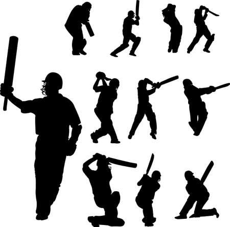 chuck: cricket players collection - vector