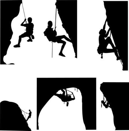 escalada: rock climbing - vector