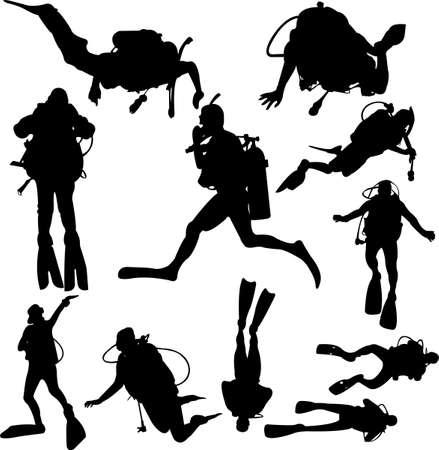 adrenalina: buceo - vector Vectores