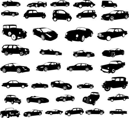 autos de colección - vector