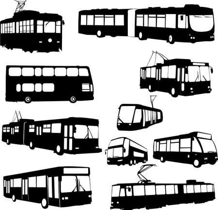 tramway: trasporto urbano - vettoriale