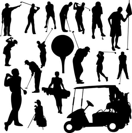 tees: set of golf 1 - vector Illustration