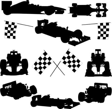 racer flag: formula cars - vector