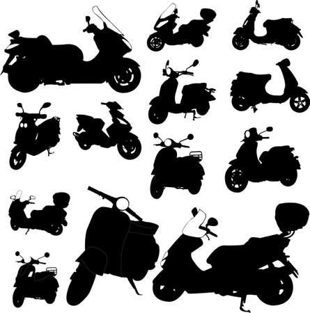 scooter motorcycle - vector Vector