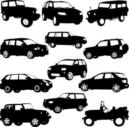 Hors route, vecteur SUV - page de présentation-