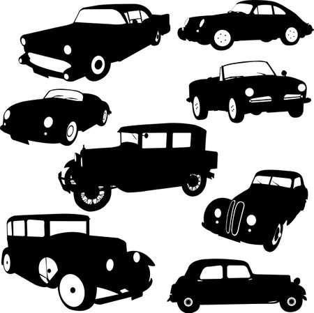 car showroom: Old car - vector Illustration