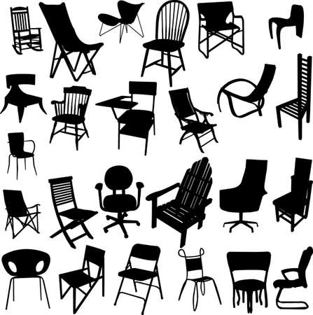 kitsch: chair collection - vector