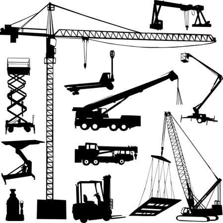 vinçler: inşaat vinç Çizim