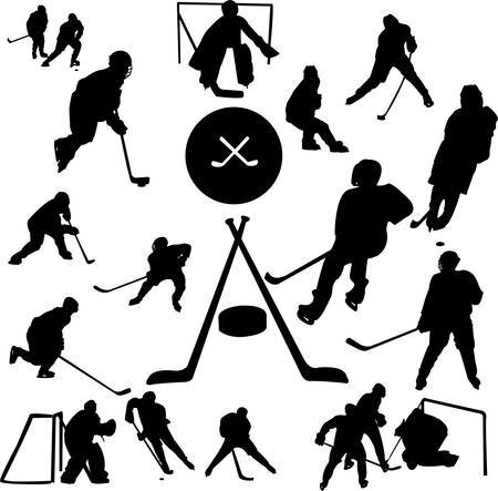 hockey collection Stock Vector - 5843939
