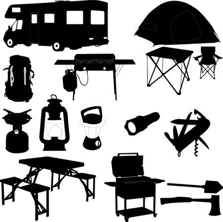 camping equipment Stock Vector - 5843942