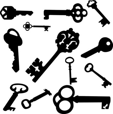 metal doors: keys set Illustration