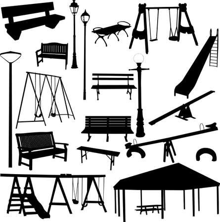 city park: park outdoor object Illustration
