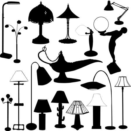 irradiate: lamps collection - vector Illustration