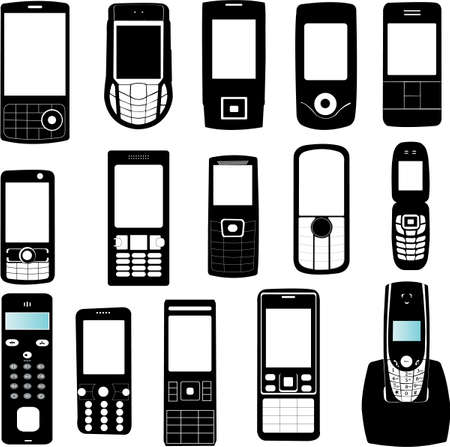 set of mobile phone - vector Vector