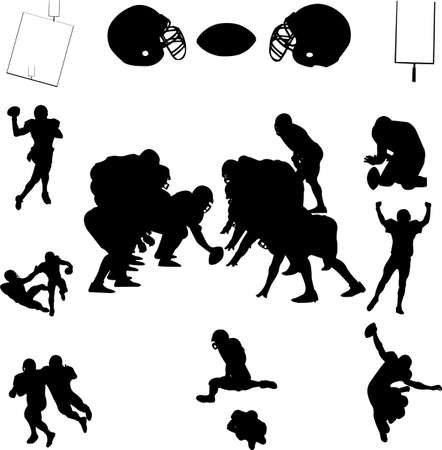scramble: rugby collection - vector Illustration