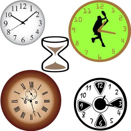 analogue: clock set - vector