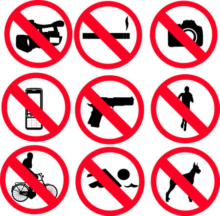 abstain:  prohibit sign - vector