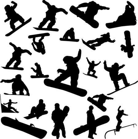 snowboarder jumping: snowboard collection