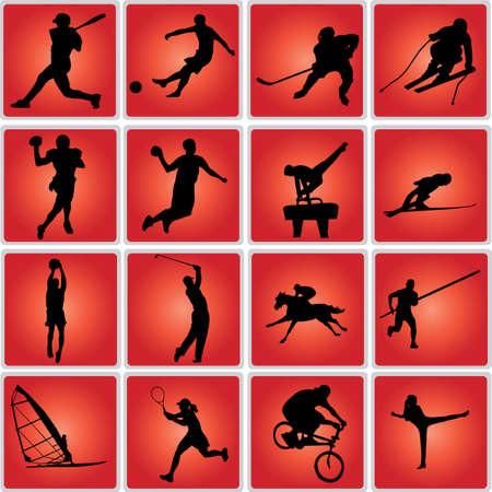 sport icon set - vectir Vector