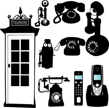 telephone collection     Stock Vector - 5991717