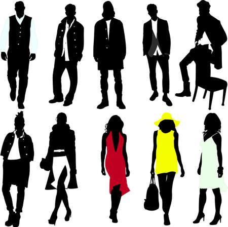 men and women: fashion women and men vector