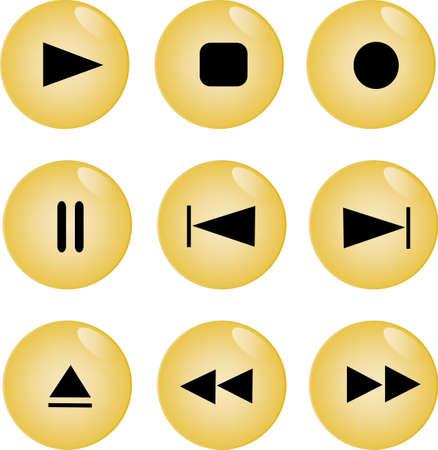 multimedia buttons - vector Stock Vector - 6054805