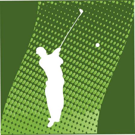 caddie: Golfer Silhouette - vector