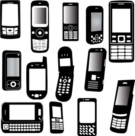 set of mobile phone Stock Vector - 6090208