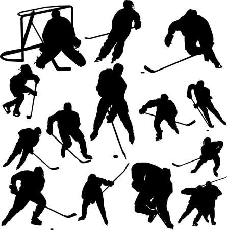 defense equipment: collection of hockey vector