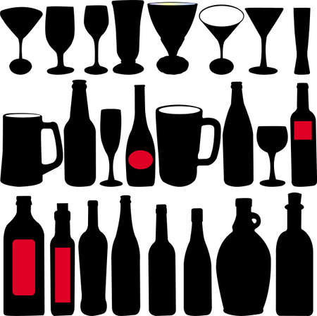 glasses collection - vector Vector
