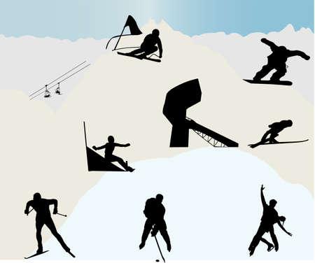 sport invernali: Sport invernali  Vettoriali