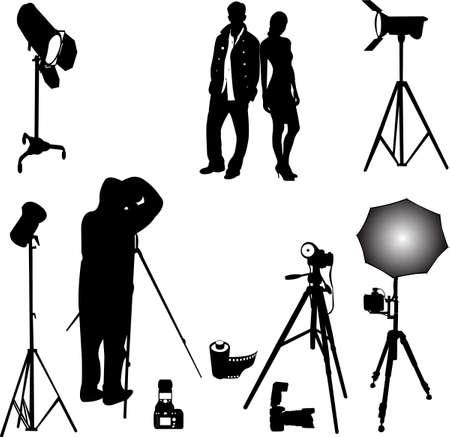 sesión fotográfica  Ilustración de vector