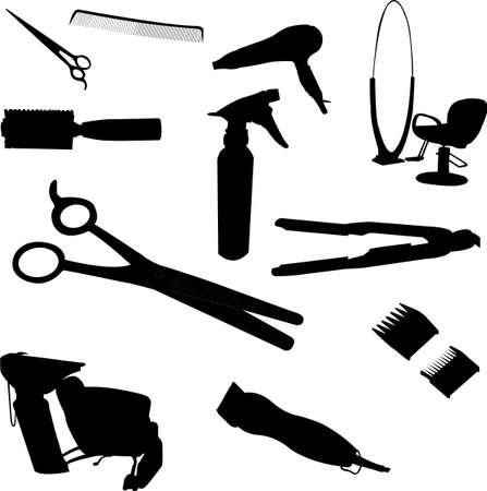 髪の機器  イラスト・ベクター素材